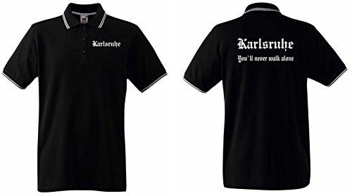 world-of-shirt Herren Polo Shirt Karlsruhe Ultras