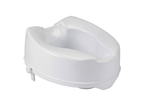 """Drive Medical Raised Toilet Seat with Lock, Standard Seat, 6"""", White"""