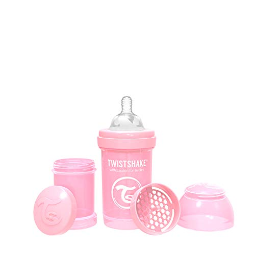 Twistshake 78249 - Biberón, color pastel rosa