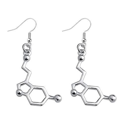 Serotonin Molecule Earrings