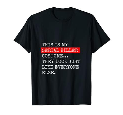 Disfraz de asesino en serie, divertido para Halloween Camiseta