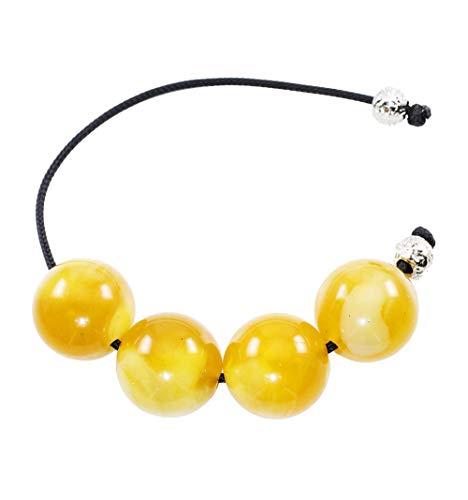 Greek Handmade Begleri with 4 yellow resin crystal beads