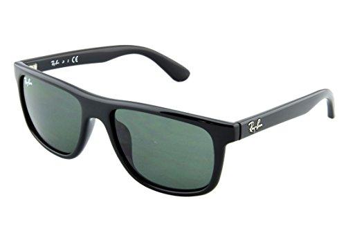 Ray-Ban Unisex RJ9057S Sonnenbrille, Schwarz (Gestell: Schwarz, Gläser: Grün Klassisch 100/71), Medium (Herstellergröße: 50)