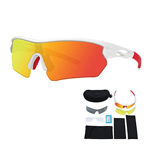 JEPOZRA Gafas Ciclismo Hombre Mujer Gafas Bicicleta Montaña Gafas de Sol Deportivas Polarizadas Antivaho Antireflejo Anti Viento y UV Adaptadas a Deporte Carrera Running MTB