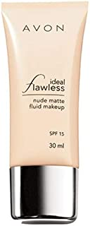 Avon Matte Foundation Ideal Flawless Nude Matte Fluid Makeup Bright Quartz - 30ml