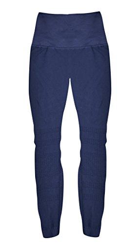 Phat Buddha Blue Textured Leggings One Size