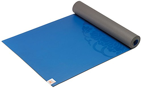 Gaiam Sol Dry-Grip Yoga Mat, Blue, 5mm