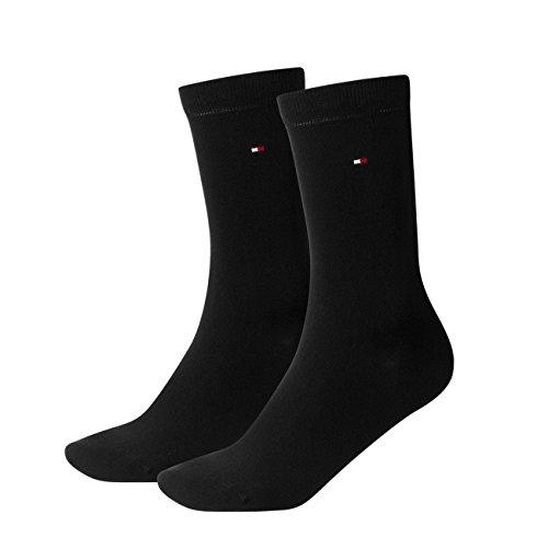 Tommy Hilfiger Damen Socken Casual 4er Pack, Größe:35-38;Farbe:black