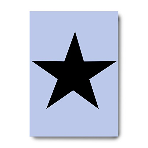 Big Star Stencil Grootte 210 x 297mm op herbruikbare Stencil (175 X 185MM Image Size Point to Point) Sjabloon voor al uw ambachtelijke projecten op een taaie flexibele plastic Mylar Sheet door Dovetails Vintage