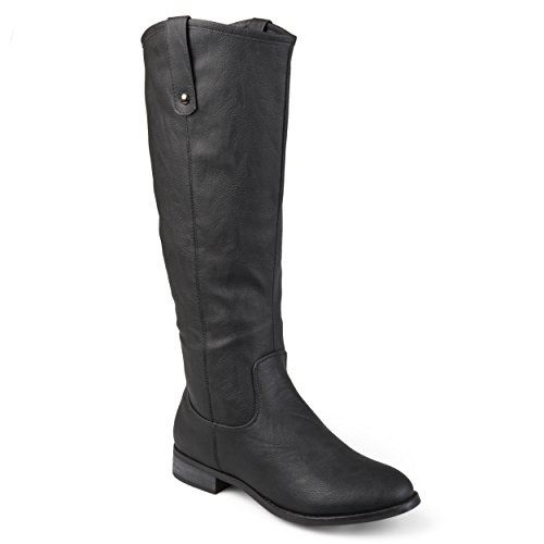 Journee Collection Womens Regular, Wide and Extra Wide Calf Round Toe Mid-Calf Boots Black, 8 Regular US