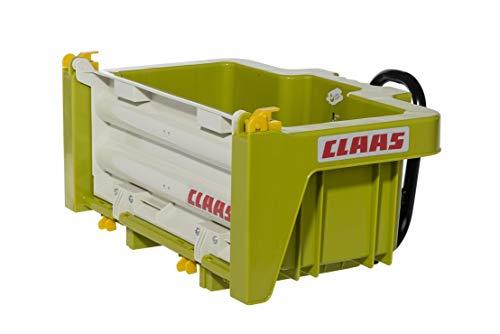 Rolly Toys 408924 rollyBox Claas Transportmulde für Trettraktor (Kinder von 3-10 Jahre, Mulde kippbar, Heckklappe ABN.)