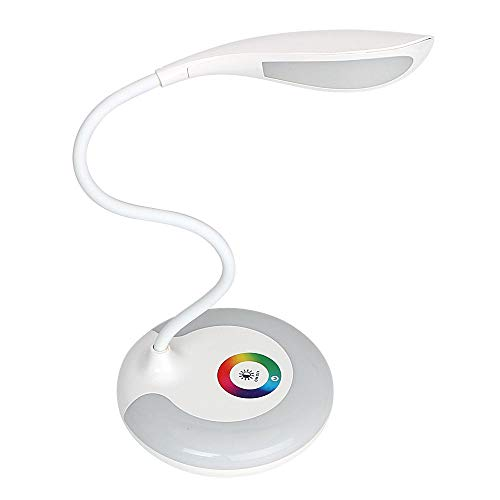 Lámpara de mesa de 3 niveles táctil RGB protección ocular lámpara de mesa noche regulable LED lámpara de escritorio USB carga libro lectura lámparas recargables
