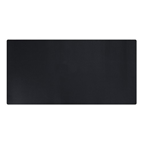 KINGFOM Desk Mat Pad Blotter Protector 23.6' x 11.8', PU Leather Desk Mat Laptop Keyboard Mouse Pad with Comfortable Writing Surface Waterproof (Black)