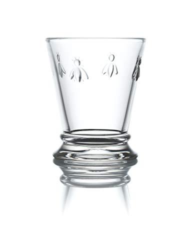 La Rochère Schnapsglas Biene Klar 60 ml - 6 Gläser - schöne Gläser Pinnchen für Shots und Drinks spühlmaschinengeeignet