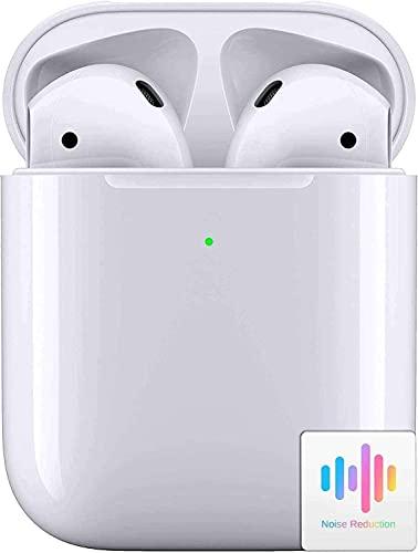 Auriculares Bluetooth 5.0 Integrados, Auriculares inalámbricos, Micrófono Incorporado y Caja de Carga, Reducción Ruido estéreo 3D HD, para Auriculares Apple Airpods Android/iPhone/Samsung