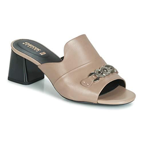 Geox Damen D SEYLA Sandal MID C Pantoletten, Braun (Lt Taupe C6738), 38 EU
