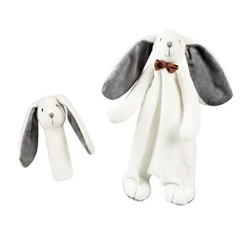 TOYANDONA 2 Stück Baby Sicherheitsdecke Plüsch Tier Beruhigende Spielzeuge Welpe Beruhigende Handtuch Plüsch Stofftier Sicherheitsdecke für Baby Kleinkinder Kleinkinder Kinder