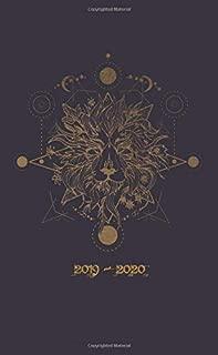 2019-2020: Two Year Monthly Pocket Planner   Alchemy Lion Head (Tattoo Sketch Art)