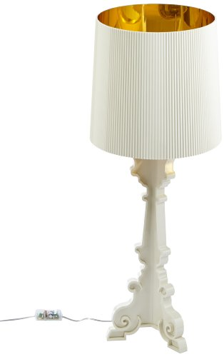 Kartell 907600 Lampe de table Bourgie (Blanc/or)