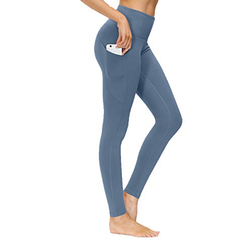 LaiYuTing 2020 Neue Nylon Yoga Hose Damen Tasche High Waist Cropped Pants Skinny Sport Running Workout Kleidung