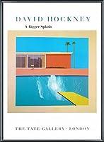 ポスター デビット ホックニー A Bigger Splash 1967 額装品 アルミ製ベーシックフレーム(ブラック)