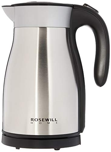 Rosewill Electric Kettle Stainless Steel Double Wall Vacuum Insulated, Keep Hot Thermal Pot, 1.7 L, 1500W , RHKT-17001