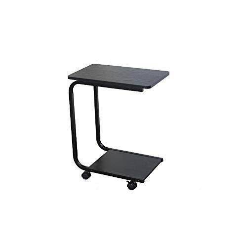 FEI Table d'appoint en C pour canapé-lit, table d'appoint latérale pour petits espaces, bureau, table de chevet pour ordinateur portable, table de nuit portable, plateau de télévision,