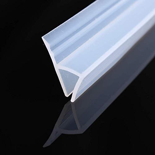 200cm H Shape Duschtür Dichtung Duschdichtung Wasserabweiser Dusche Glastür für 8mm Glasdicke