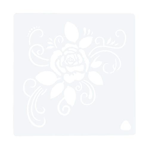 Bisofice 1 Pieza de Plantilla para decoración de Pasteles, Plantilla de Flores y Rosas, Material para Mascotas, Reutilizable para DIY, Pastel, Hornear, Pintura, artesanía, decoración de Diario