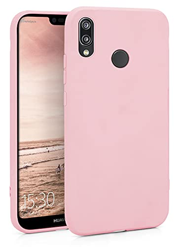 MyGadget Silikon Hülle für Huawei P20 Lite - robuste Schutzhülle TPU Case Slim Silikonhülle Back Cover Ultra Kratzfest Handyhülle in Rosa