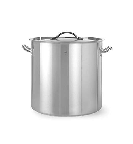 Revolution Hoher Kochtopf | 50 L | Ø 40 x 40 | Edelstahltopf für Induktion | mit Metall-Deckel | Ideal für Küche & Professionelle Gastronomie | Spülmaschinengeeignet