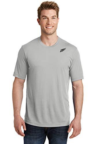 MI Falcon Camiseta dinámica de algodón para hombre, talla grande, color plateado