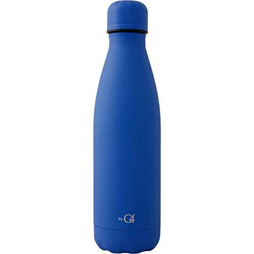 Termo Stahl acero inoxidable 500 ml, mantiene bebida fria 24 hrs, caliente 12 horas. Tapón con cierre al vacío, sin derrames. MARCA REGISTRADA G4. Color azul mate