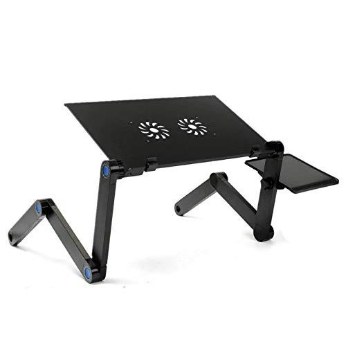 Belleashy Mesa plegable plegable portátil escritorio refrigeración portátil mesa con alfombrilla de ratón soporte para ordenador portátil para comedor corte cocina picnic