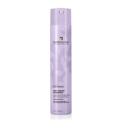 Price comparison product image Pureology Style + Protect Soft Finish Hairspray / For Color-Treated Hair / Flexible Hold,  Non-Drying Hairspray / Silicone Free / Vegan / Updated Packaging / 11 Oz.