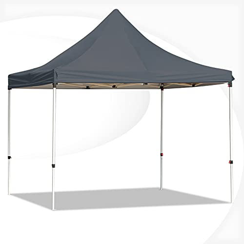 LVUYOYO 10x10 Ft Pop Up Canopy Tent - Instant Canopy Straight Leg Shelter with Adjustable Height and Wheeled Carrying Bag - Portable Outdoor Canopy for Festival, Event, Party, Beach (C: Black)
