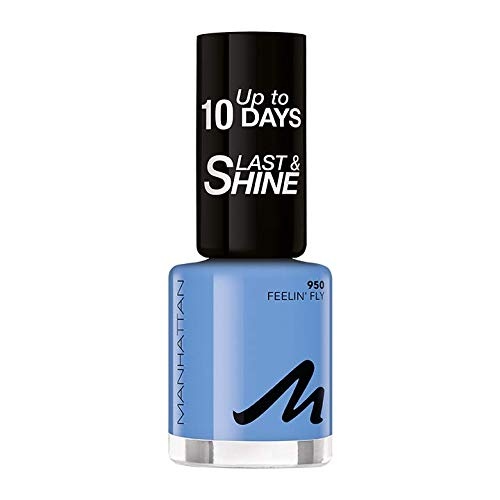 Manhattan Last und Shine Nagellack, Nr. 950 Feelin' Fly, 1er Pack (1 X 10 ml)