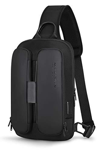 Sling Rucksack, Mark Ryden USB Aufladen Männer Wasserabweisende Umhängetasche Multifunktions-Umhängetasche Passend für 9,7-Zoll-iPad
