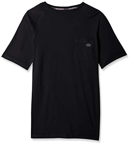 Dickies Men's Short Sleeve Performance Cooling Tee, Black, 2X