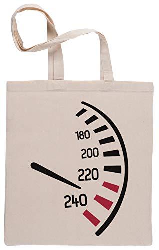 Tachometer Einkaufstasche Beige Shopping Bag Beige