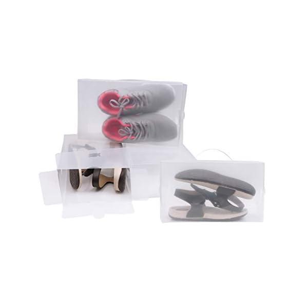 Zapatos apilable plegable Organizador transparente para hombres y mujeres Pack de 20 cajas Ahorre zapatos transparentes de pl/ástico corrugado por Kurtzy-Zapatos impermeables Organizador Zapatos pequ