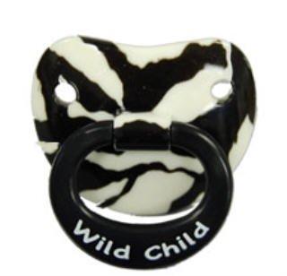 Billy Bob Teeth Wild Child Zebra Toddler Baby Pacifier