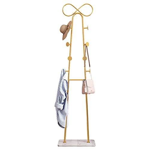 Perchero Abrigo bastidor de piso de pie arco-knot abrigo soporte moderno metal labrado hierro colgador bolsa bastidor sala de estar sala de estar vertical cubre estante Estante organizador de ropa ind