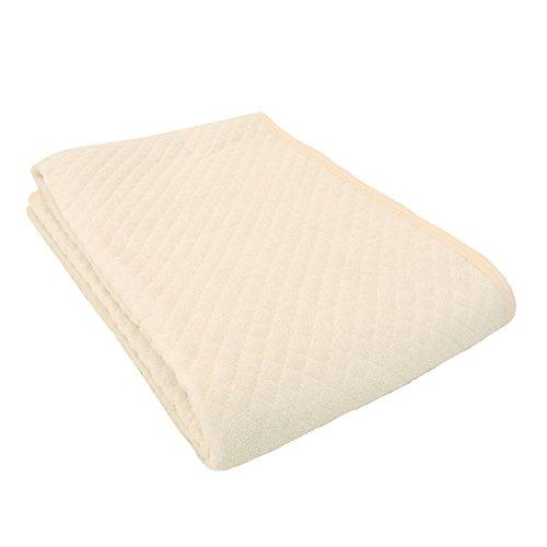 西川 敷きパッド シングル 綿100% タオル地 洗える オールシーズン さらさら 吸汗 パイル部分:綿100% 四隅ゴムバンド付き ベッドパッド マットレスカバー パッドシーツ 100×205cm アイボリー
