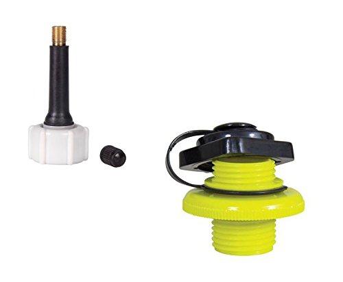 Jobe Boston Ventil + Adapter für Kompressor - Boot Gummi Schlauchboot Tube Towable Rafts Luftmatratze
