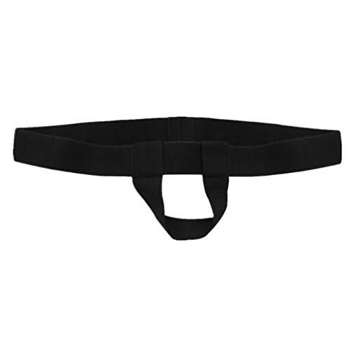 iEFiEL Mens Bare Back Sliding Ring Enhancing Strap Underwear Underpants T-Back (Black)