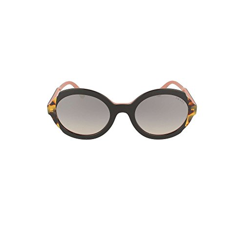 Prada 0PR 17US Gafas de sol, Top Black Pink/Medium Havana, 53 para Mujer