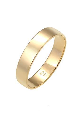 Elli PREMIUM Ring Damen Bandring Trauring Basic Hochzeit Paar in 585 Gelbgold