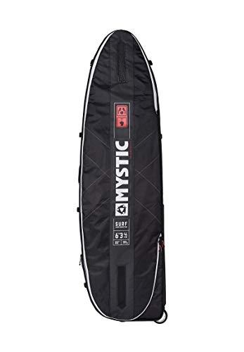 Mystic Watersports - Surf Kitesurf & Windsurfing Surf Pro Boardtasche 6';3 Schwarz - Eva-geformter Schulteraufnäher - Robuster Reißverschluss
