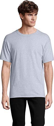 Hanes Men's ComfortSoft Short Sleeve T-Shirt (12 Pack), Light Steel, X-Large